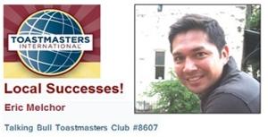 Toastmasters, Eric Melchor