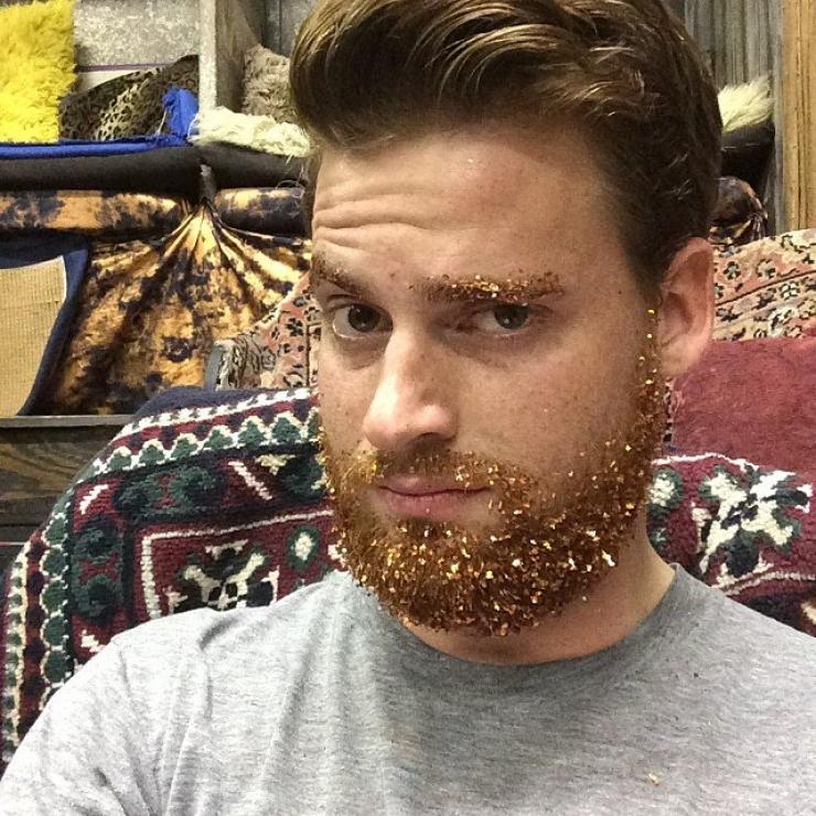 glitter on beards
