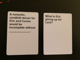 cards against humanity wedding game