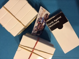 card box for cards against matrimony